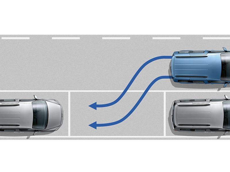 Parkeringsassistent till VW Caddy Skåp
