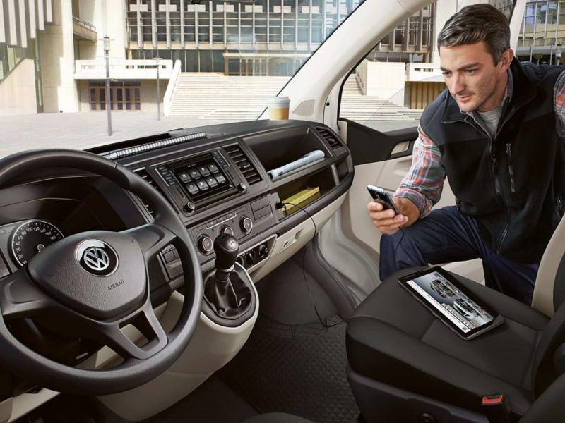 Volkswagen Transporter actie navigatie