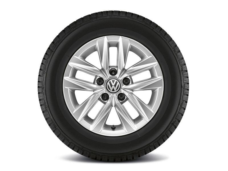 Ein Reifen mit 15-Zoll-Felge «Caloundra» von der Seite.