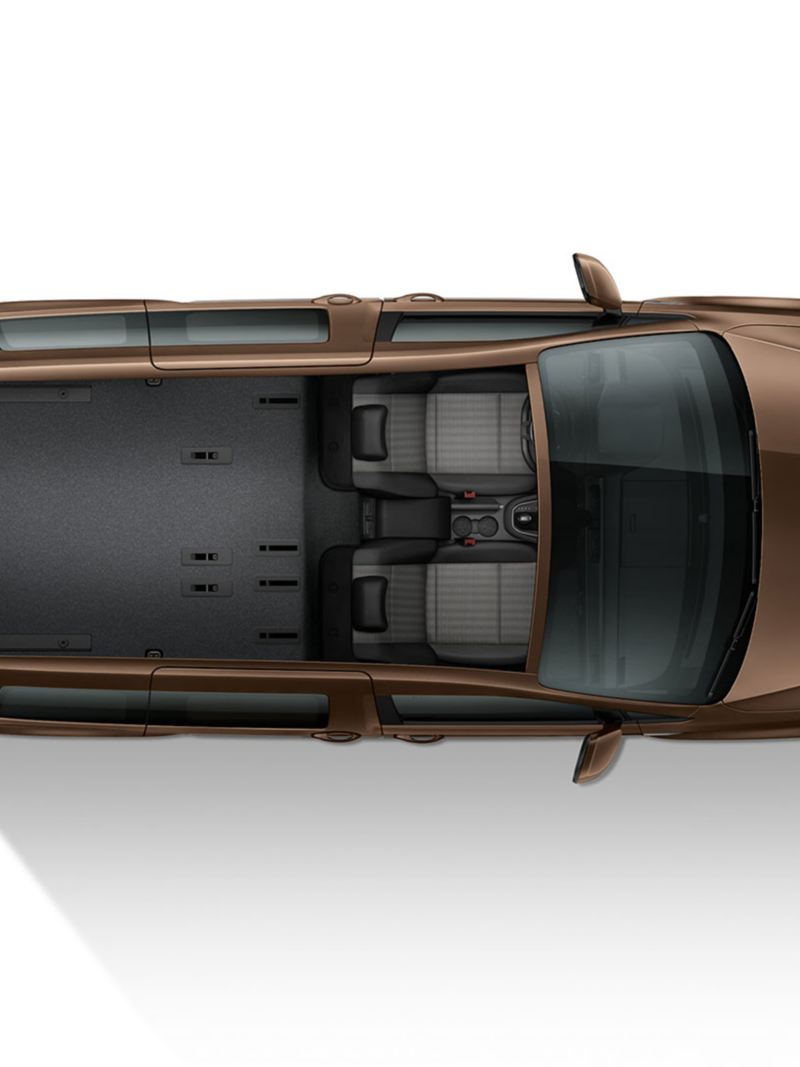 Volkswagen Caddy har ett stort lastutrymme