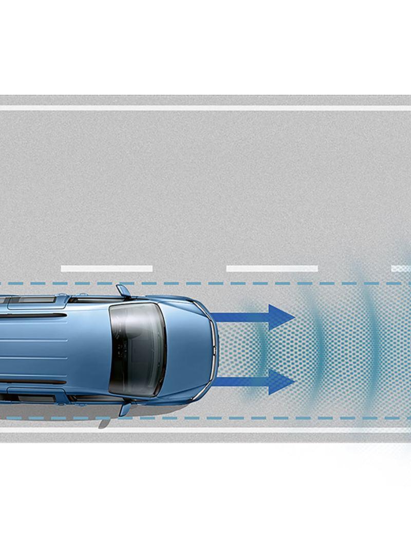 Avståndsreglering med Front Assist samt Lane Assist till VW Caddy Skåp