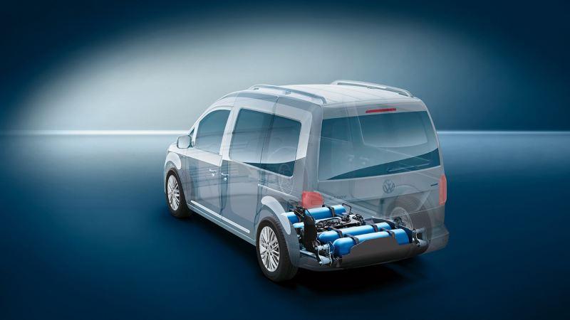 Anschauungsbild für einen Caddy mit Erdgasantrieb.