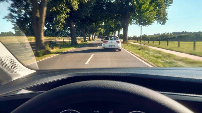 Förarplatsen i en VW Caddy