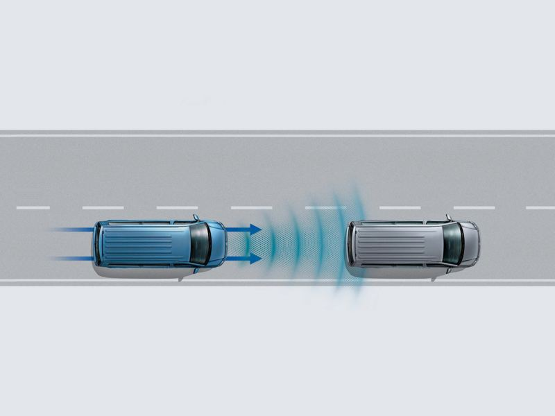 Volkswagen comerciales Caravelle Asistentes Control de crucero adaptativo