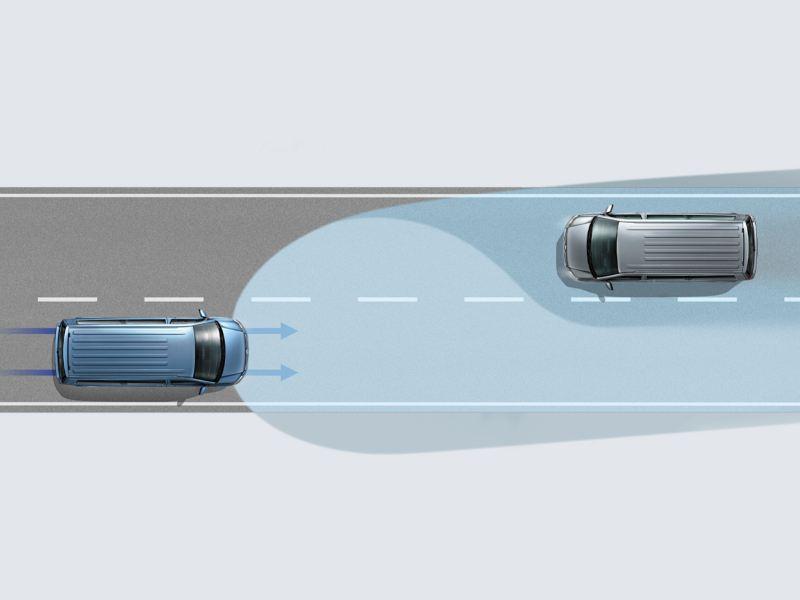 Volkswagen comerciales Caravelle Asistente dinámico de luz