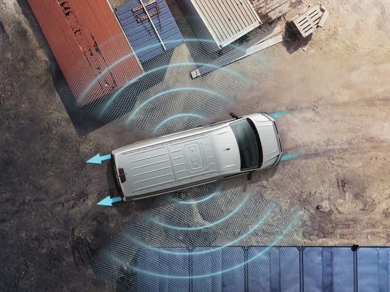 Volkswagen comerciales e-Crafter protección lateral con sensores