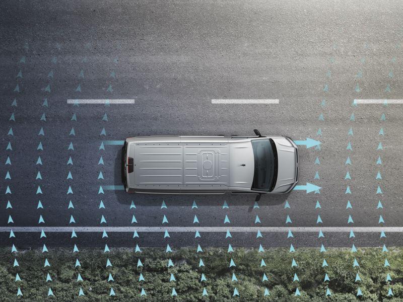 Volkswagen comerciales e-Crafter Asitente de viento lateral