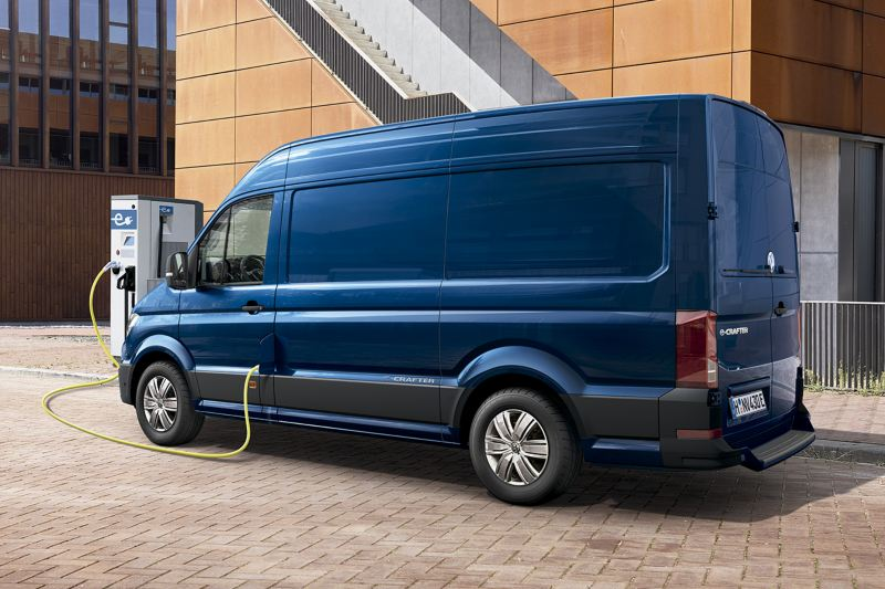 e-crafter connected in a charging station