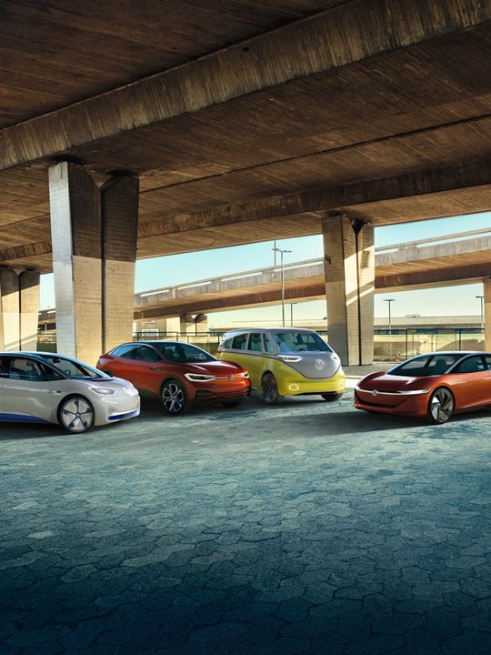 familia vehiculos electricos ID Hub