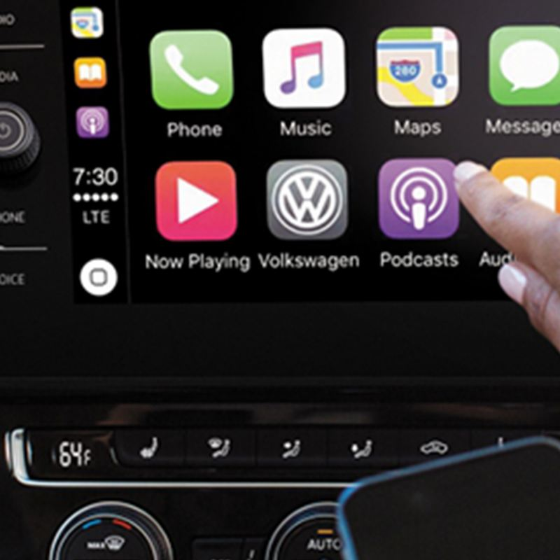 VW Media screen, link out to vwpartsandservice.ca