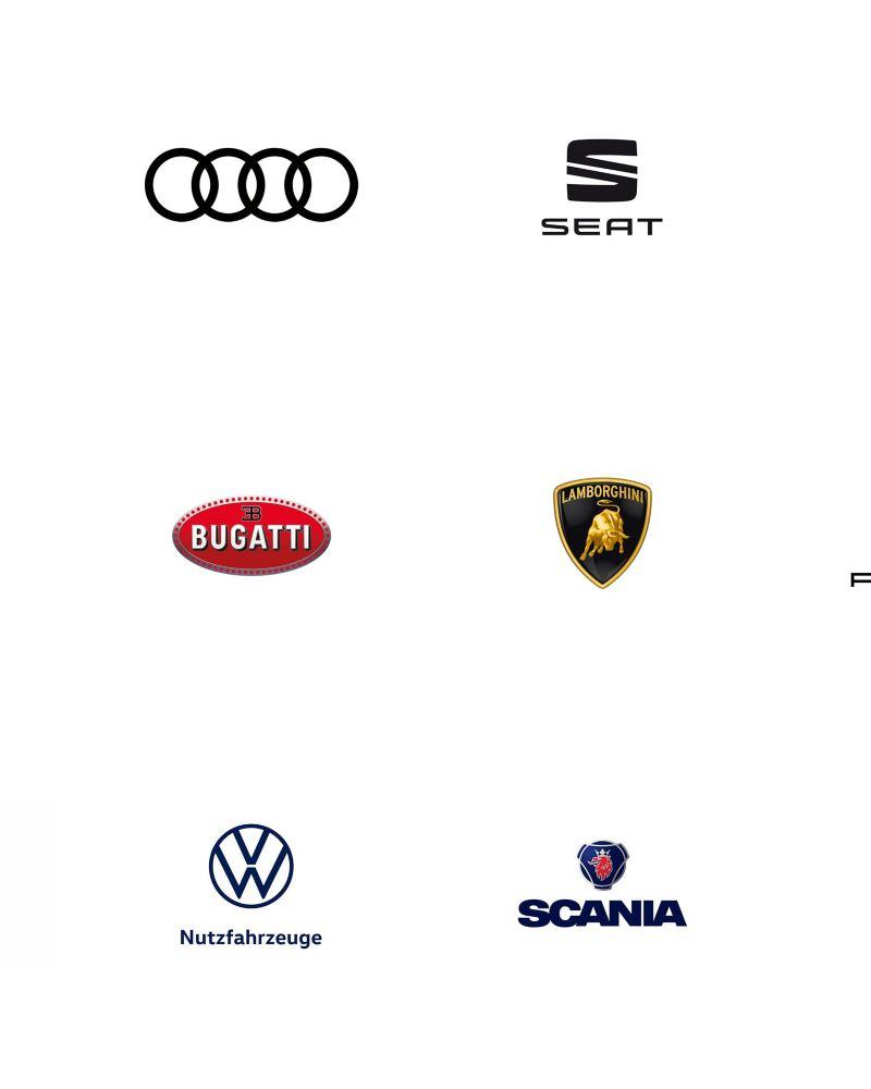 Die Logos mehrerer Automarken.