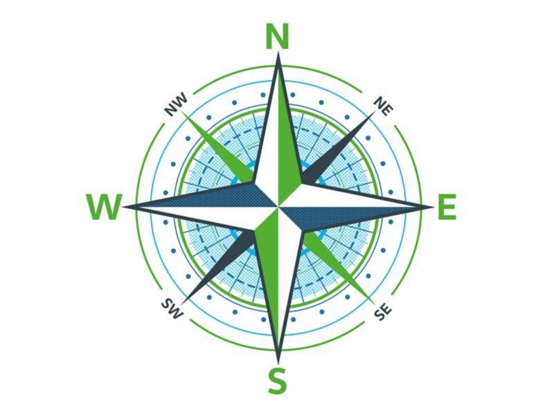 Anschaubild für einen Kompass.