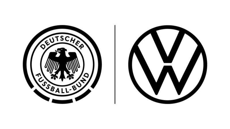 Logos vom DFB und VW