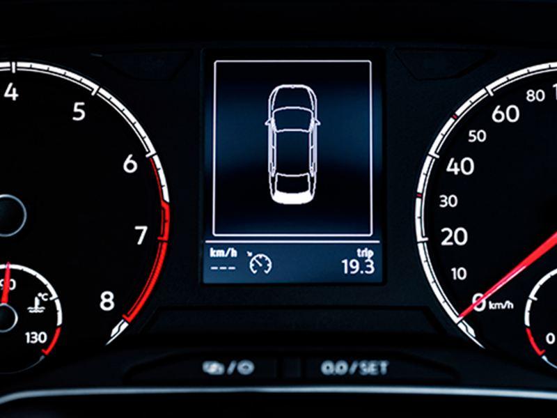 Computadora de viaje indicando la duración de viaje de Nuevo Virtus de Volkswagen