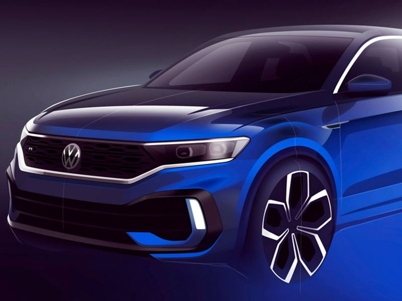 The new T-Roc R, in blue.