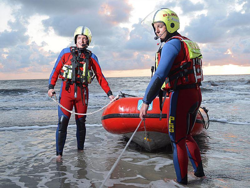Den tyska livräddningsföreningen DLRG i norra Tyskland är alltid i tjänst