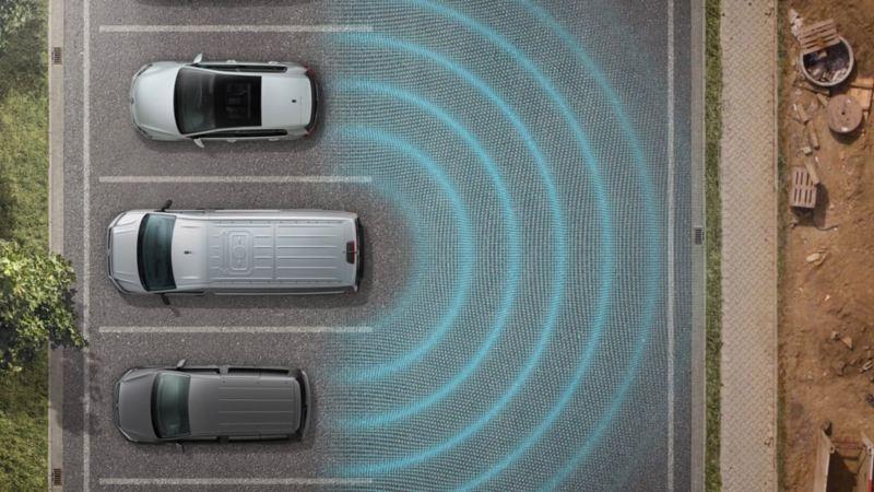 vw Volkswagen Multivan 6.1 Highline 7-seter familiebil minivan maxitaxi persontransport førerassistentsystemer park assist assistentsystem