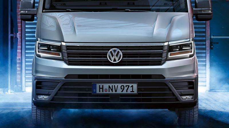 vw Volkswagen Crafter stor skapbil ombygg påbygg frontlys frontlykter