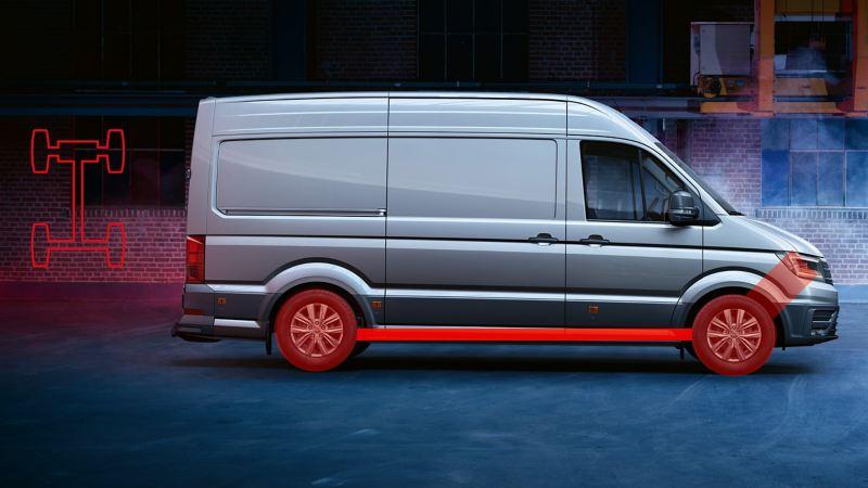 vw Volkswagen Crafter stor varebil kassebil 4x4 4motion firehjulstrekk