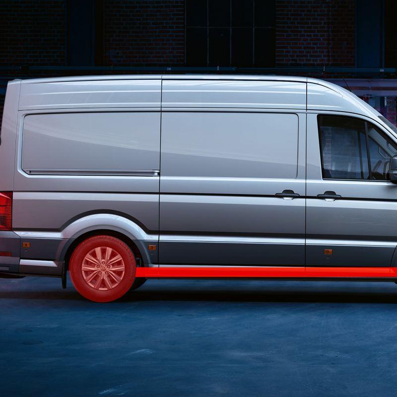 VW Crafter lätt lastbil med 4MOTION fyrhjulsdrift