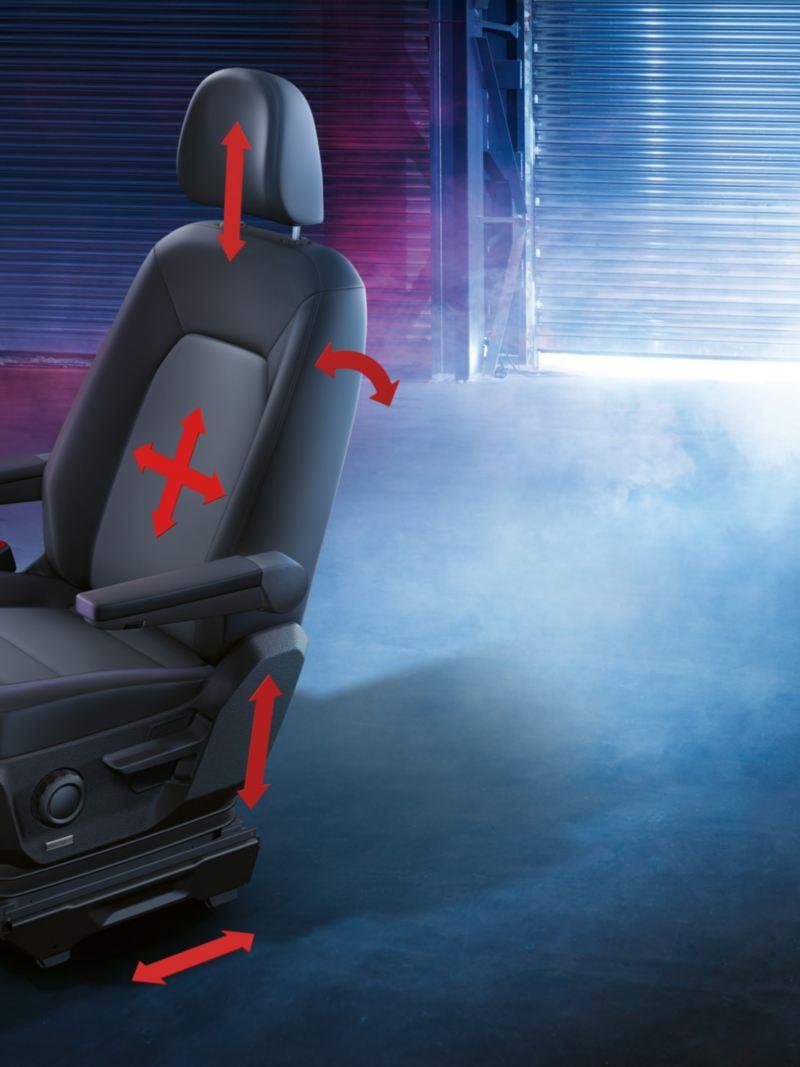 ergoComfort-säten i VW Crafter lätt lastbil