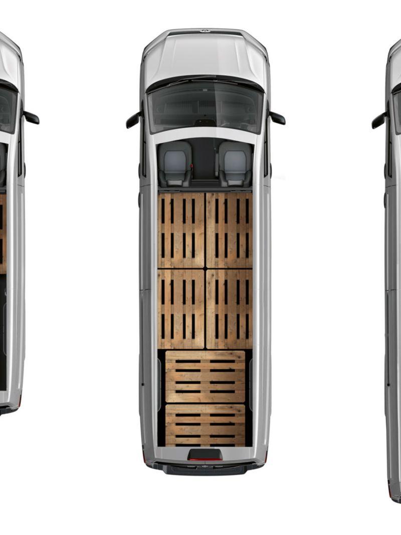 VW Crafter ovanifrån lätt lastbil