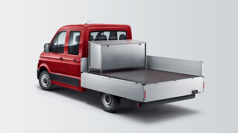 Crafter Pick-up met dubbele cabine rood