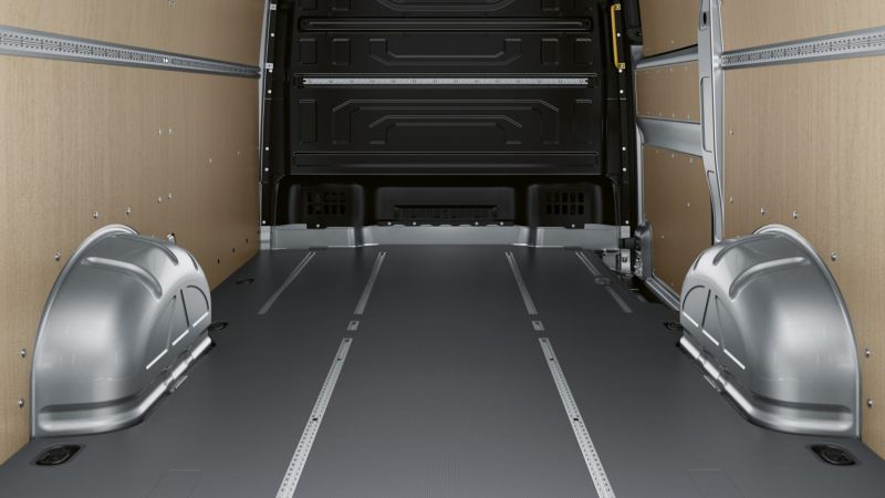 VW e-Crafter lätt lastbil elbil lastutrymme