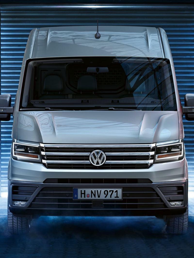 Volkswagen Crafter lätt lastbil i garage