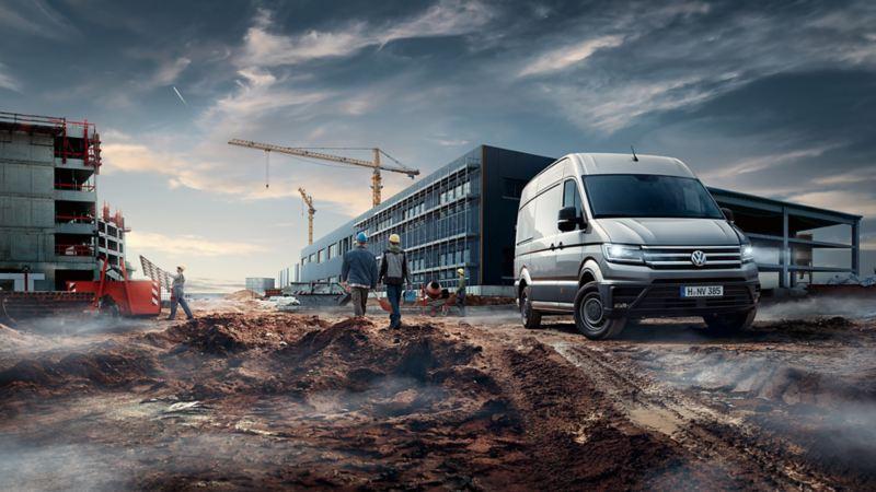 vw Volkswagen Crafter kassebil varebil stor firmabil