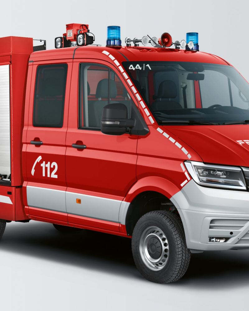 Ein Crafter als Feuerwehrfahrzeug.