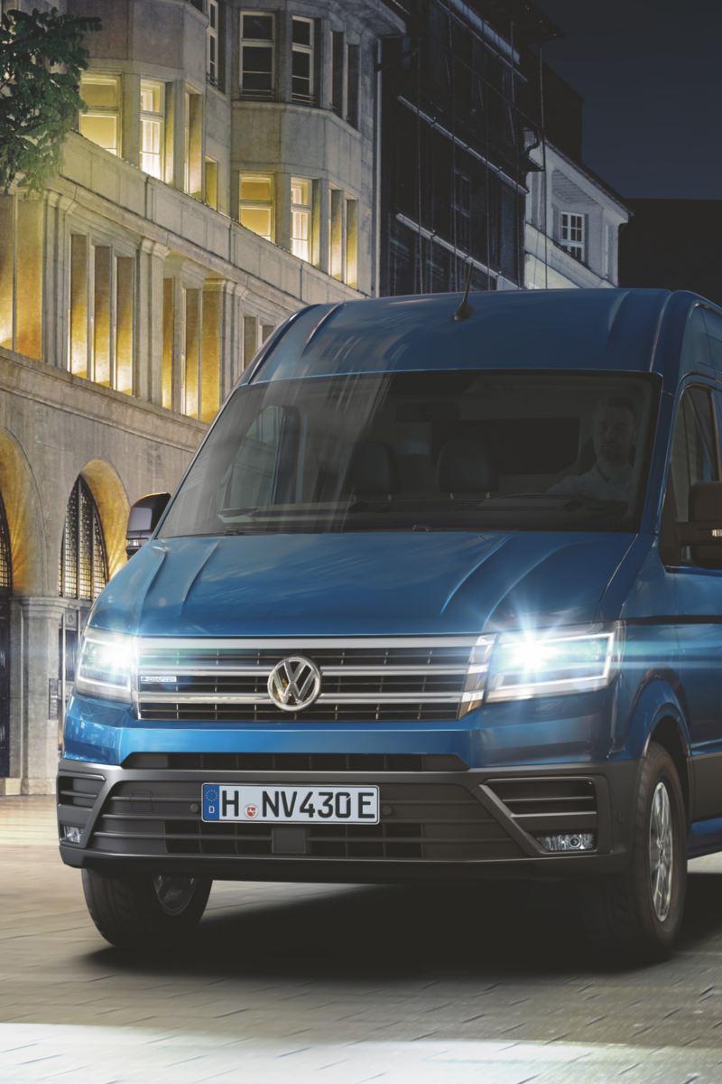 VW e-Crafter lätt lastbil elbil i stadstrafik