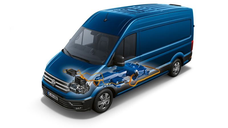 En VW e-Crafter illustration