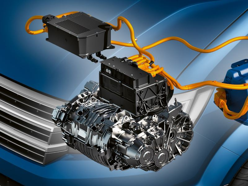 An illustration of the e-Crafter's electric motor.