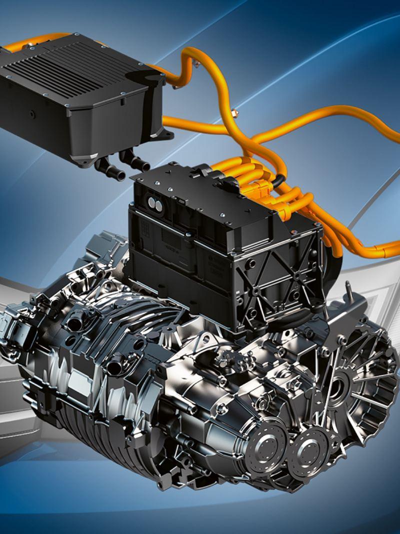 Ilustracja silnika elektrycznego e-Craftera.
