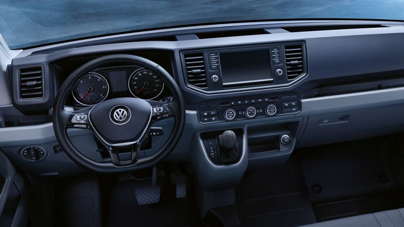 Helt ny förarplats hos VW Crafter lätt lastbil