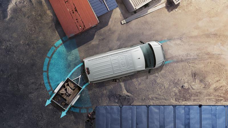 vw Volkswagen nye Transporter 6.1 varebil førerhus digital cockpit kassebil firmabil budsjåfør budbil varelevering assistentsystem trailer assist tilhengerassistent