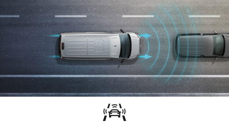 Nye Caddy 5 Cargo liten varebil budbil håndverker elektriker rørlegger Front Assist