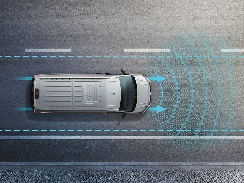 Anschauungsbild für das Fahrerassistenzsystem Lane Assist.