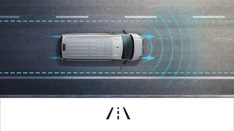 Crafter Lane assist sikkerhetssystem førerassistentsystem assistentsystem vw Volkswagen kassebil stor varebil