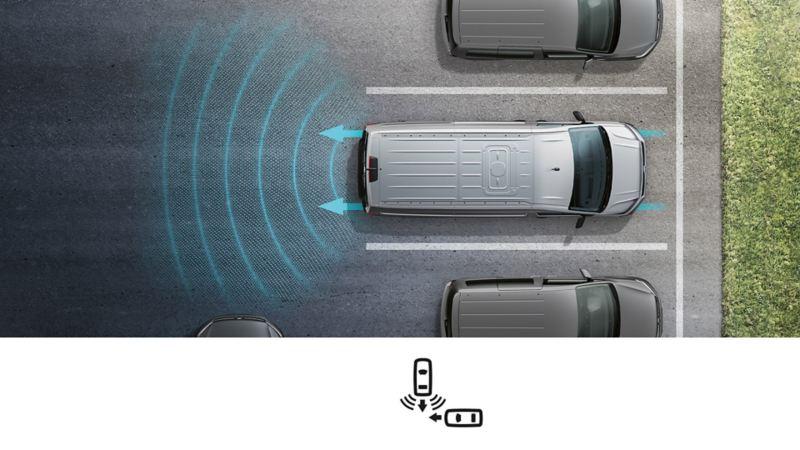 utmanøvreringsassistent vw Volkswagen Crafter stor varebil kassebil rygge assistentsystem sikkerhetssystem