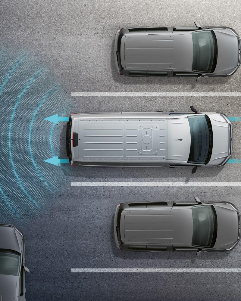 Illustration av varning för bakomvarande fordon