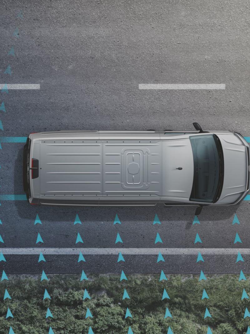 Nya assistanssystem i VW Multivan minibuss