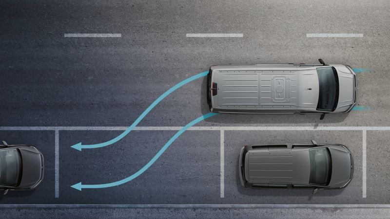 vw Volkswagen nye Transporter 6.1 varebil førerhus digital cockpit kassebil firmabil budsjåfør budbil varelevering assistentsystem park assist parkeringsassistent