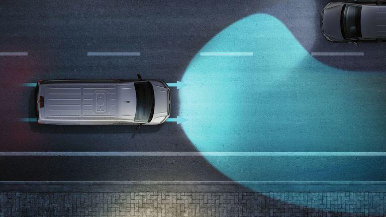 vw volkswagen Transporter sikkerhetssystemer førerassistentsystemer assistentsystemer varebil ekstrautstyr standardutstyr