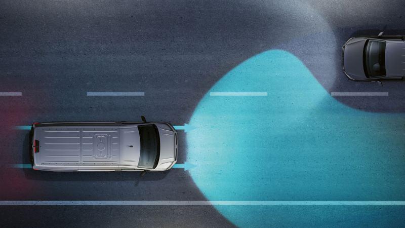 vw Volkswagen Multivan 6.1 Highline 7-seter familiebil minivan maxitaxi persontransport lysassistent assistentsystem førerassistentsystem