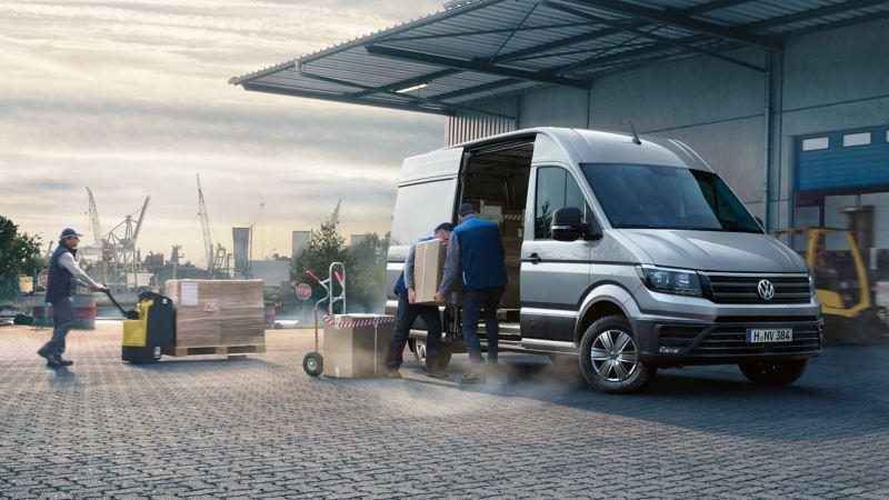 vw Volkswagen Crafter stor varebil kassebil lasteevne nyttelast varerom europaller terminal