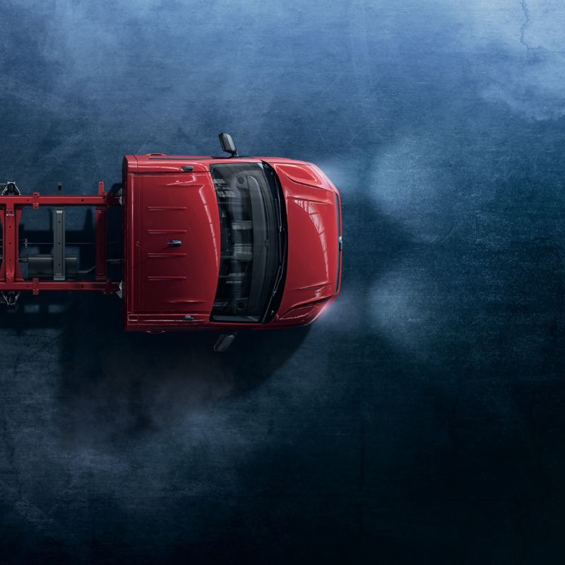 Le Crafter Châssis Volkswagen Véhicules Utilitaires, vu de haut.