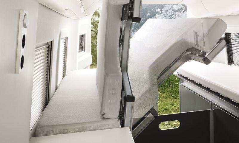 Sängar i VW Grand California husbil