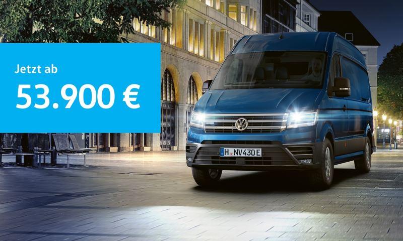 Der e-Crafter jetzt zum günstigen Einstiegspreis von 53.900 €.